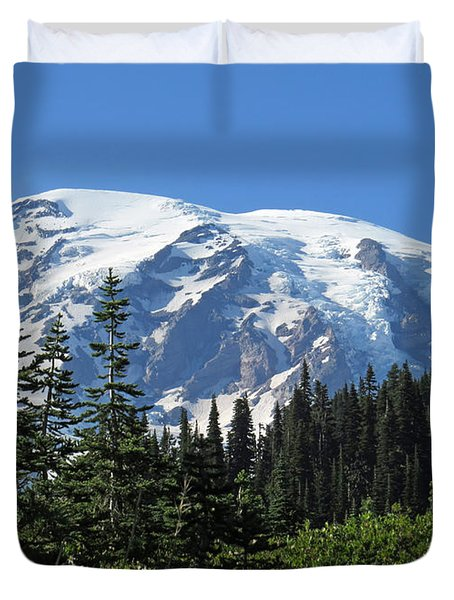Washington's Mt. Rainier Duvet Cover