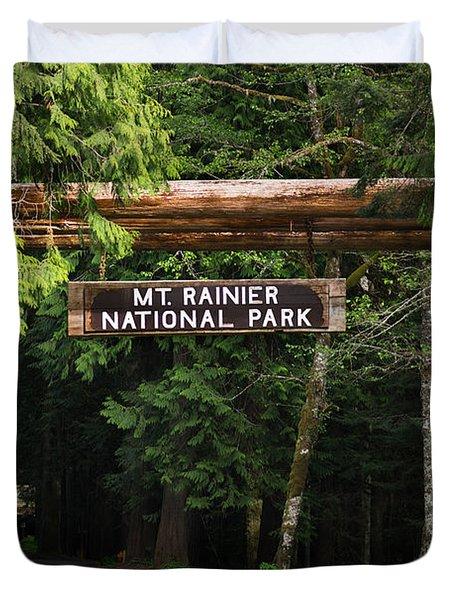 Mt Rainier Gateway Duvet Cover