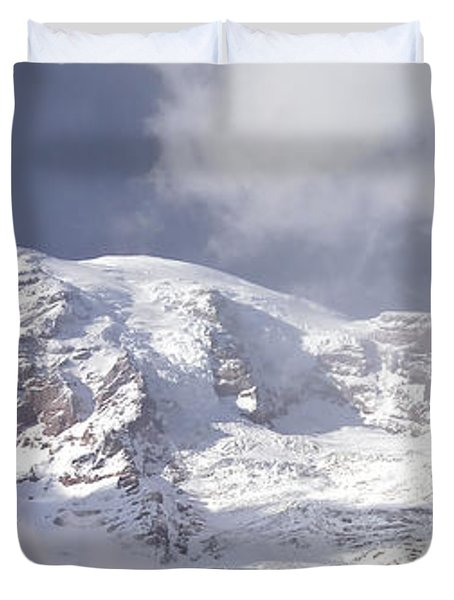 Duvet Cover featuring the photograph Mt Rainier  by Greg Reed