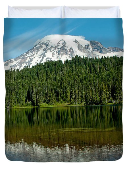 Duvet Cover featuring the photograph Mt. Rainier II by Tikvah's Hope