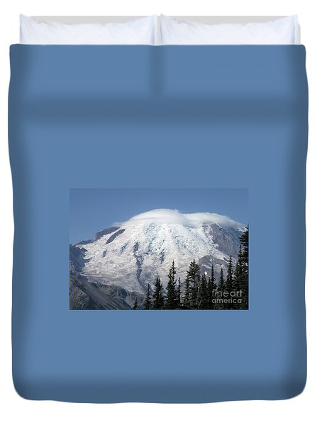 Mt. Rainier In August 2 Duvet Cover by Chalet Roome-Rigdon