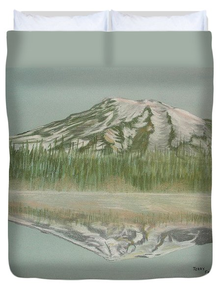 Mt Rainier Duvet Cover by Terry Frederick
