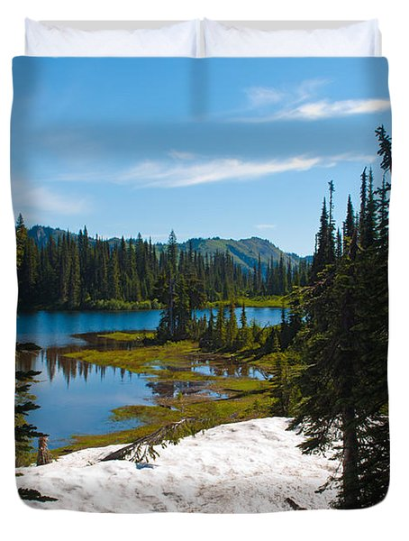 Duvet Cover featuring the photograph Mt. Rainier Wilderness by Tikvah's Hope