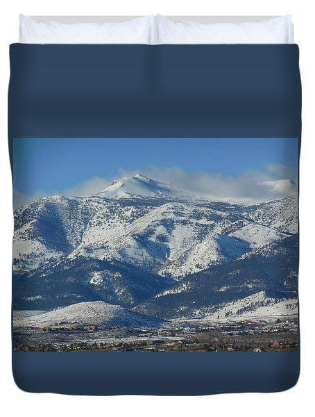 Mt Rose Reno Nevada Duvet Cover