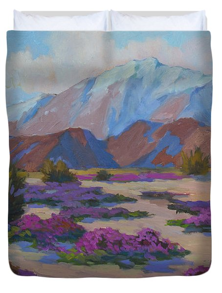Mt. San Jacinto And Verbena Duvet Cover