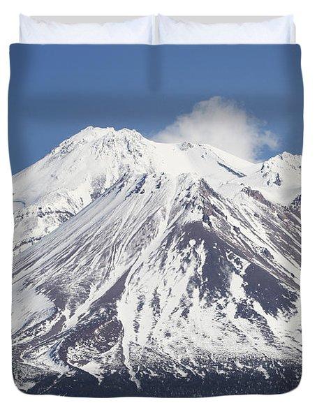Mt Shasta California Duvet Cover