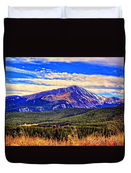 Mt. Silverheels II Duvet Cover