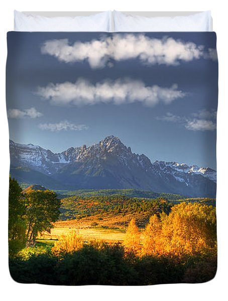 Mt Sneffels And The Dallas Divide Duvet Cover by Ken Smith