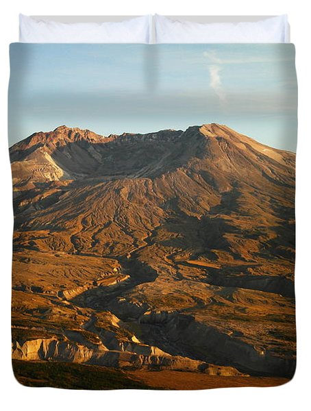 Mt St Helens From Johnsons Observatory Duvet Cover by Jeff Swan
