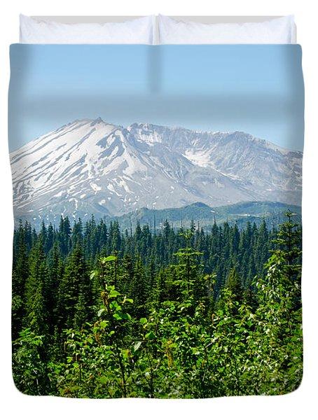 Mt. St. Hellens Duvet Cover by Tikvah's Hope