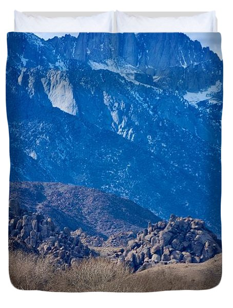 Mt. Whitney And Alabama Hills Duvet Cover by Eric Tressler