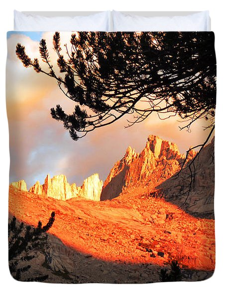 Duvet Cover featuring the photograph Mt. Whitney Sunrise by Alan Socolik