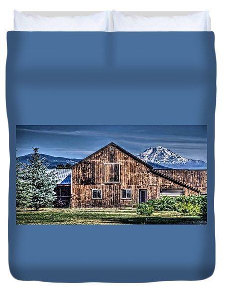 Duvet Cover featuring the photograph Mt. Adams by Thom Zehrfeld