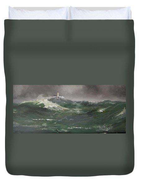 Muckle Flugga Lighthouse Shetland Duvet Cover