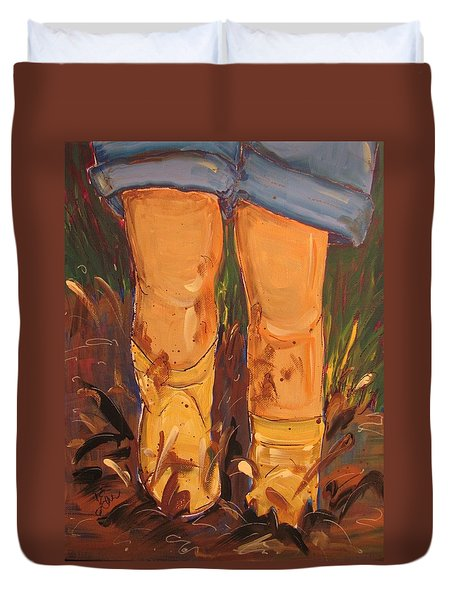 Mud Puddle Fun Duvet Cover