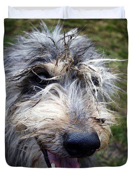 Muddy Dog Duvet Cover
