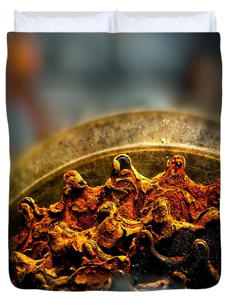 Muddy Rusty Sprockets Duvet Cover by Bob Orsillo