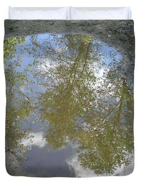 Mudpuddle Reflection Duvet Cover