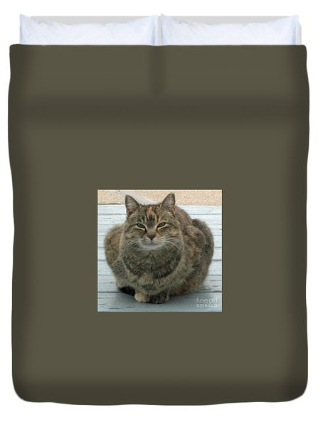Muffin The Feral Cat Duvet Cover