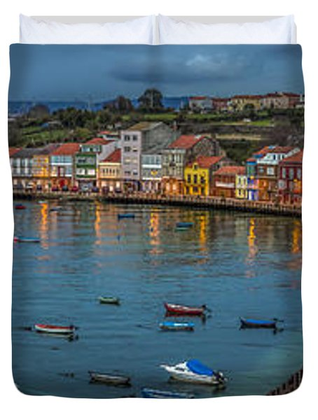 Mugardos Panorama Galicia Spain Duvet Cover by Pablo Avanzini
