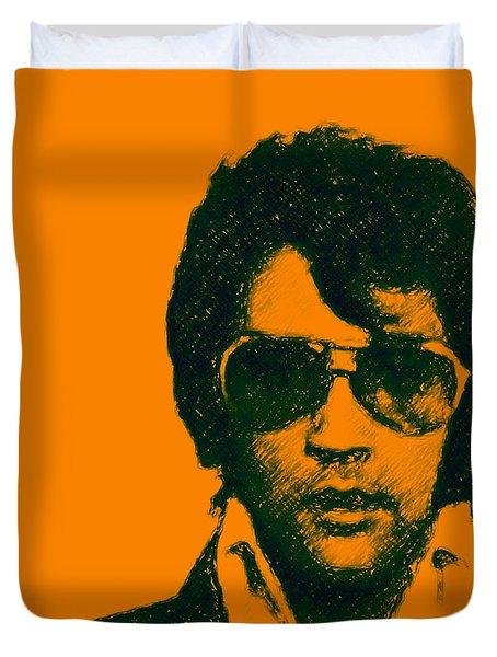 Mugshot Elvis Presley Square Duvet Cover