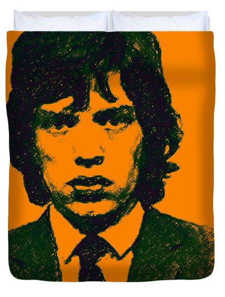 Mugshot Mick Jagger P0 Duvet Cover