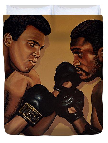 Muhammad Ali And Joe Frazier Duvet Cover