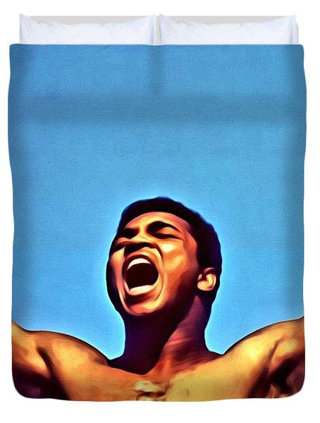 Muhammad Ali Duvet Cover by Florian Rodarte