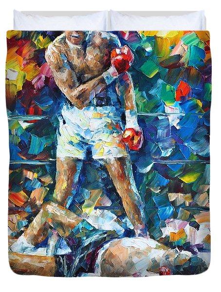 Muhammad Ali Duvet Cover by Leonid Afremov