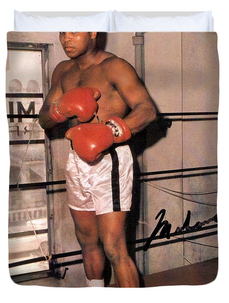 Muhammad Ali Duvet Cover by Unknown