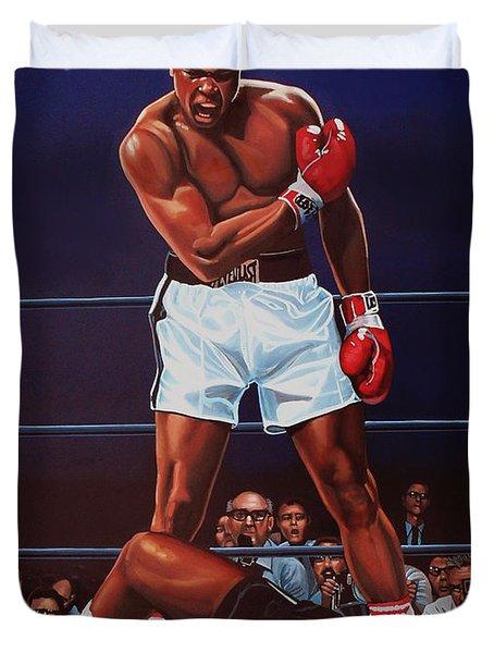 Muhammad Ali Versus Sonny Liston Duvet Cover