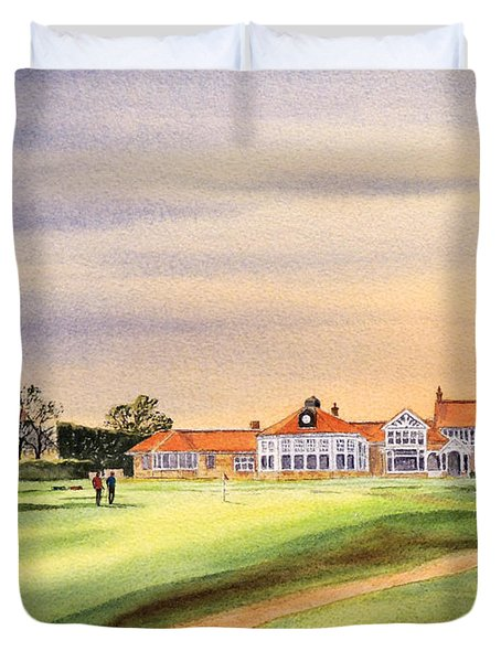 Muirfield Golf Course 18th Green Duvet Cover
