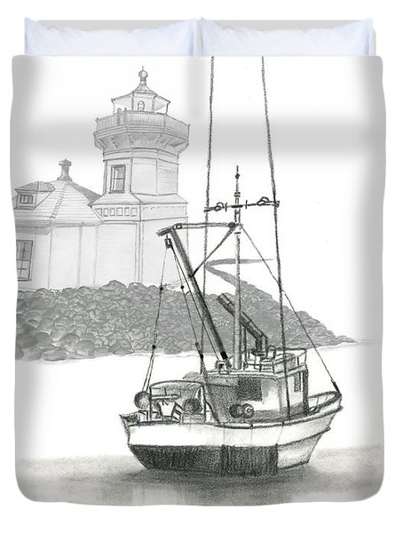 Mukilteo Lighthouse Duvet Cover by Terry Frederick