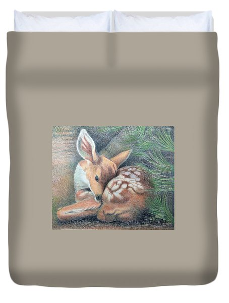 Mule Deer Fawn Duvet Cover