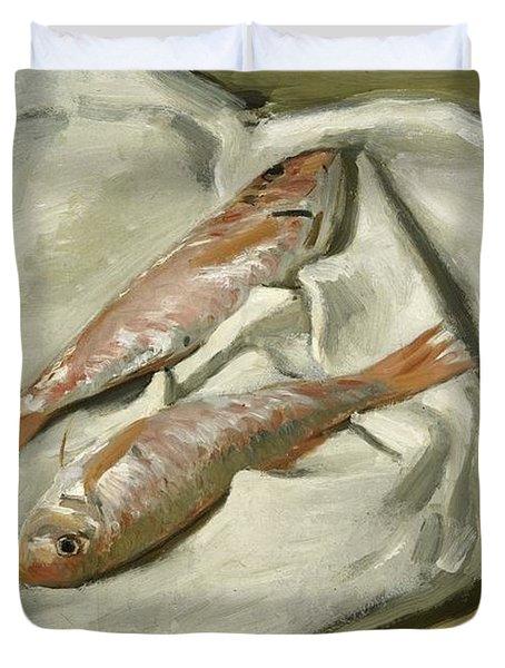 Mullets Duvet Cover by Claude Monet