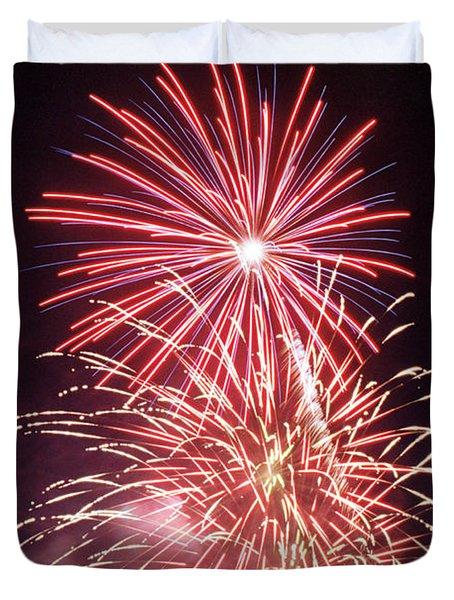 4th Of July Fireworks 1 Duvet Cover by Howard Tenke