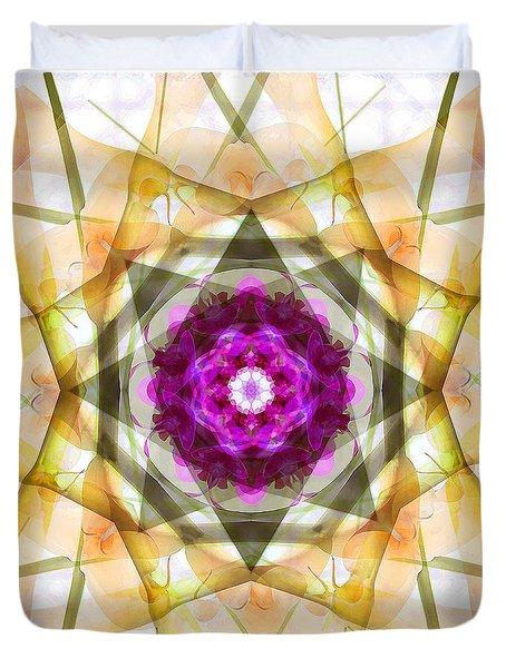 Multi Flower Abstract Duvet Cover by Mike McGlothlen