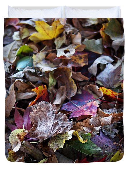 Multicolored Autumn Leaves Duvet Cover