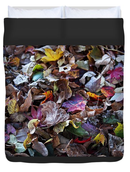 Multicolored Autumn Leaves Duvet Cover