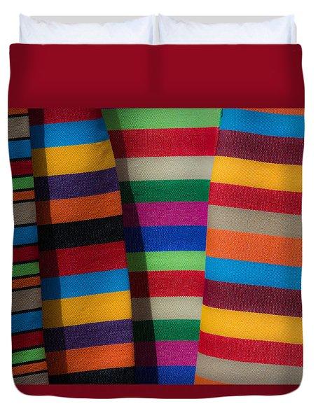 Duvet Cover featuring the photograph Multicolour Horizontal Line by Edgar Laureano
