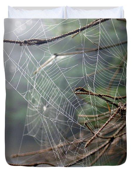 Multiple Webs - Near Duvet Cover