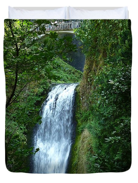 Multnomah Falls Bridge 2 Duvet Cover