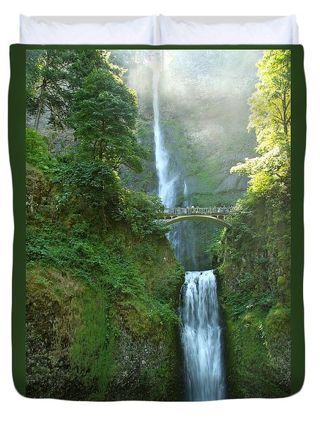 Multnomah Falls Duvet Cover by Christiane Schulze Art And Photography