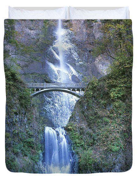Multnomah Falls Columbia River Gorge Duvet Cover