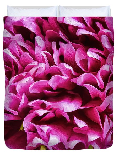 Mum Petals-2 Duvet Cover by Nancy Marie Ricketts
