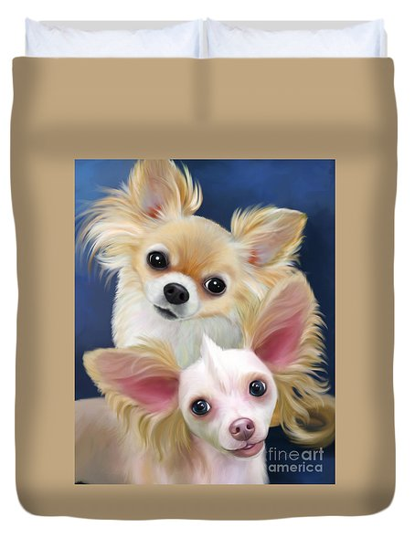 Munchie And Tuffy Duvet Cover by Catia Cho