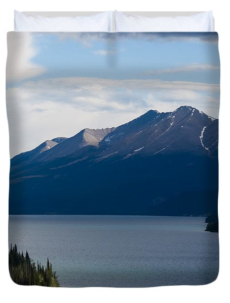 Muncho Lake Duvet Cover