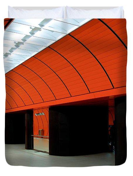 Munich Subway IIi Duvet Cover by Hannes Cmarits
