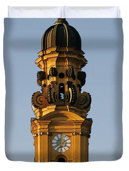 Munich Theatine Church Of St. Cajetan - Theatinerkirche St Kajetan Duvet Cover by Christine Till