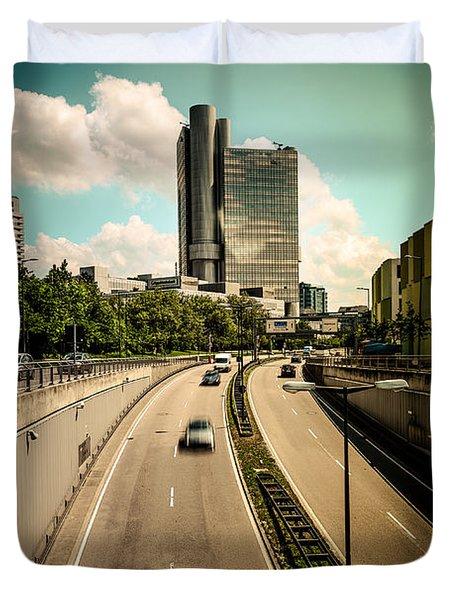 Munich Traffic Duvet Cover by Hannes Cmarits
